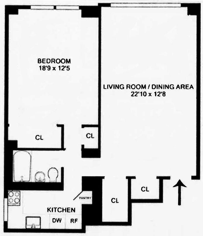 55 East 9th Street 5M, East Village, NYC, $837,300, Web #: 19943417