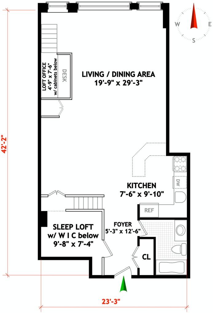 21 East 22nd Street 2A, Flatiron, NYC, $885,000, Web #: 19943457