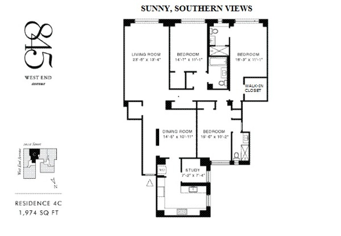 845 West End Avenue 4C, Upper West Side, NYC, $3,125,000, Web #: 19943613