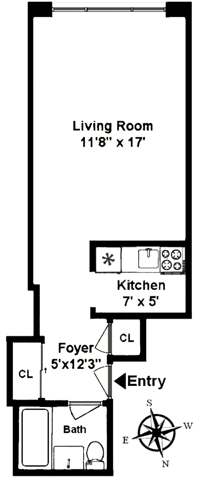 321 East 71st Street 3A, Upper East Side, NYC, $270,000, Web #: 19945590