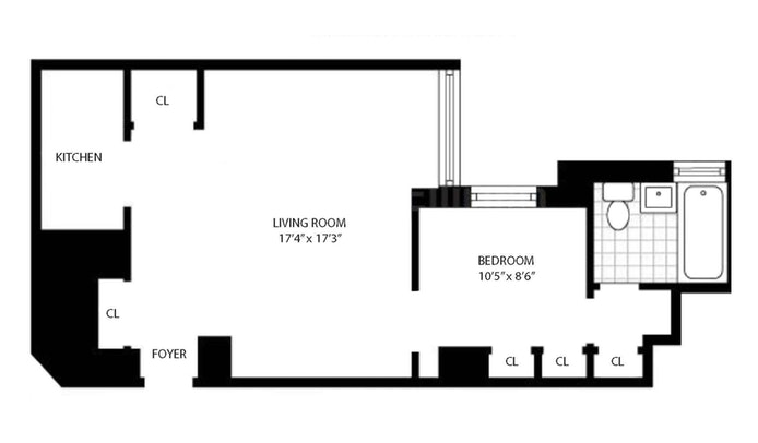 159 West 53rd Street 19A, Midtown West, NYC, $649,000, Web #: 19947133