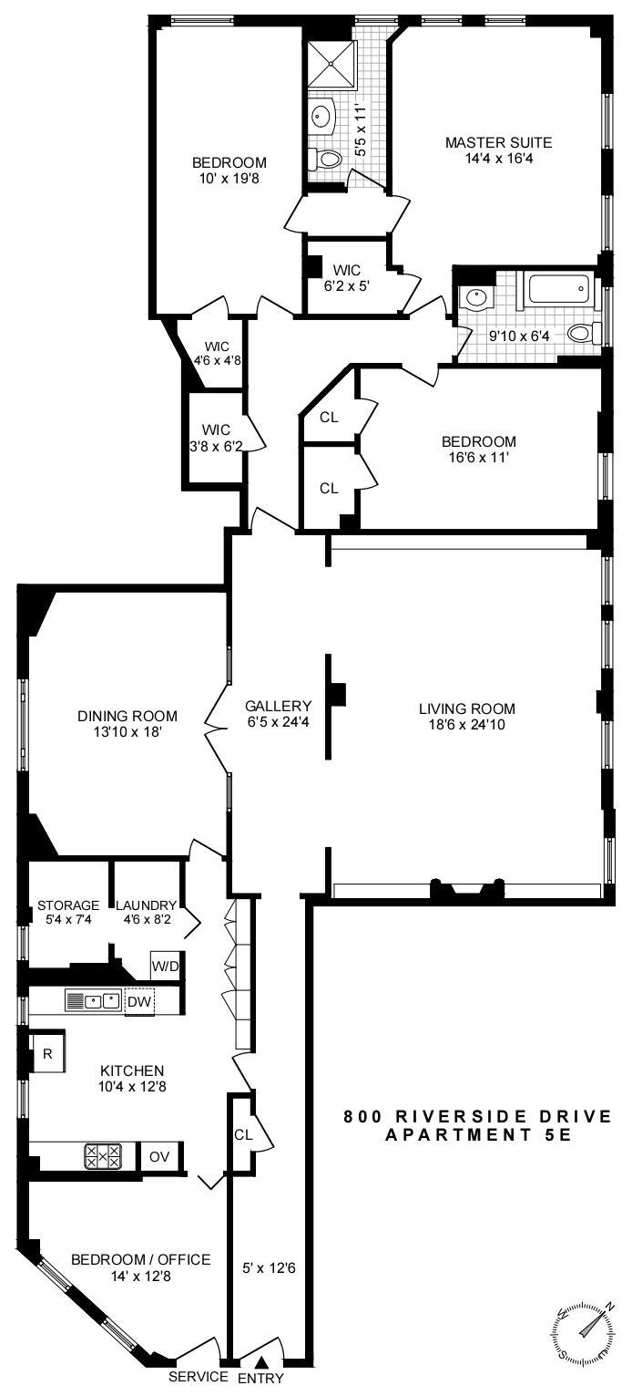 800 Riverside Drive 5E, Washington Heights, NYC, $2,299,000, Web #: 19948446