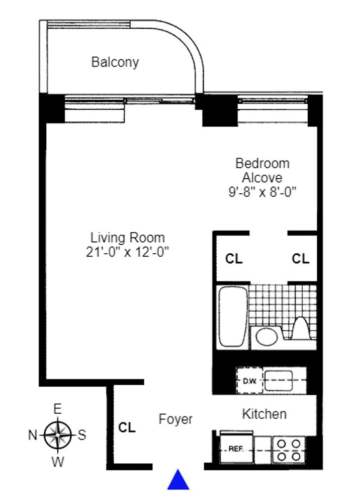 311 East 38th Street 4E, Midtown East, NYC, $650,000, Web #: 19948568