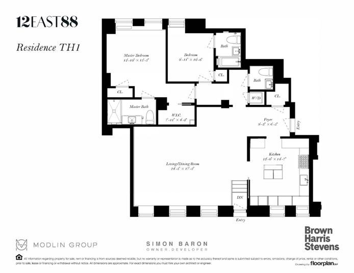 12 East 88th Street Th1, Upper East Side, NYC, $2,200,000, Web #: 19959262