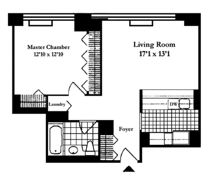 422 East 72nd Street 34B, Upper East Side, NYC, $3,750, Web #: 19962643
