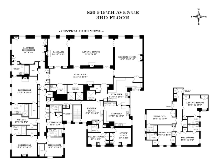 820 Fifth Avenue 3Fl, Upper East Side, NYC, $50,000,000, Web #: 19966199