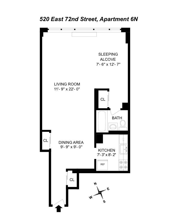520 East 72nd Street 6N, Upper East Side, NYC, $519,000, Web #: 19967052