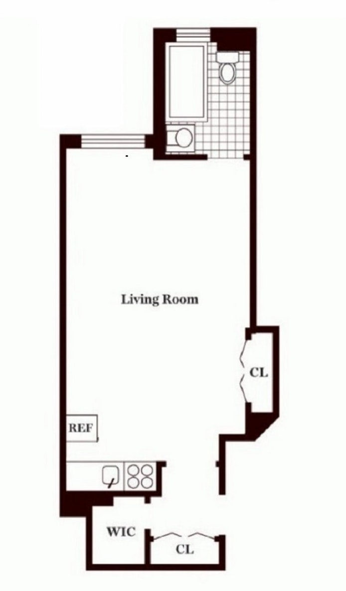 440 West 34th Street 14F, Midtown West, NYC, $2,450, Web #: 19967275