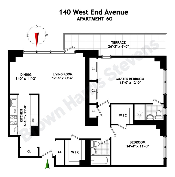 140 West End Avenue 6G, Upper West Side, NYC, $1,200,000, Web #: 19972082