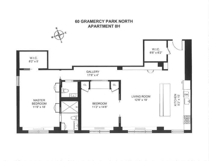 60 Gramercy Park 8H, Flatiron/Gramercy Park, NYC, $1,660,000, Web #: 19975929