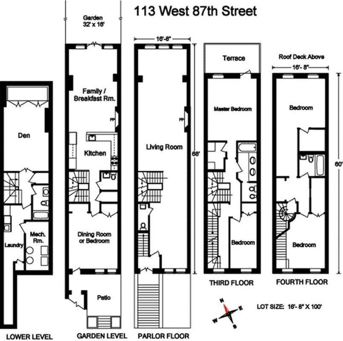 113 West 87th Street, Townhouse, Upper West Side, NYC, $21,500, Web #: 19982265
