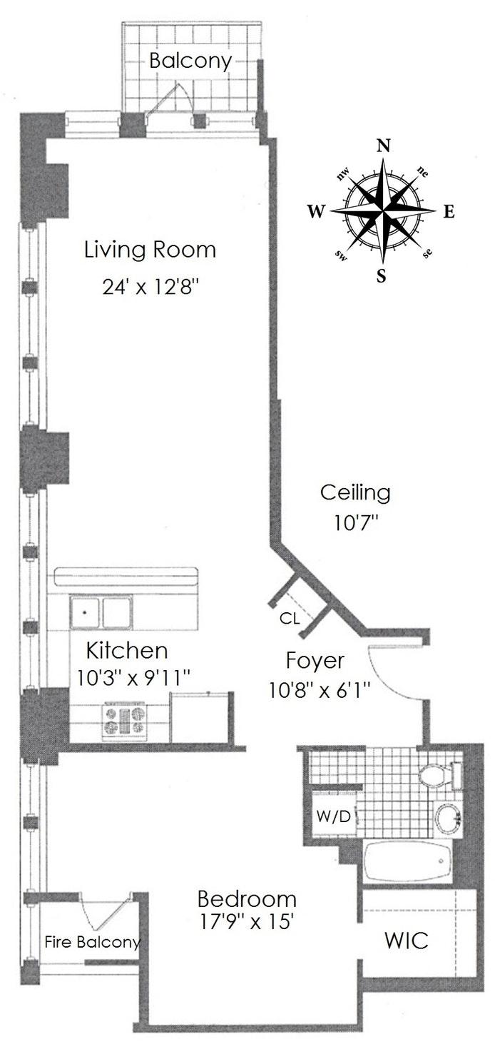45 East 30th Street 11C, Midtown East, NYC, $950,000, Web #: 19984446