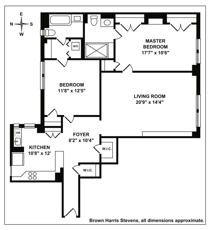 245 West 74th Street 5C, Upper West Side, NYC, $1,600,000, Web #: 19991915