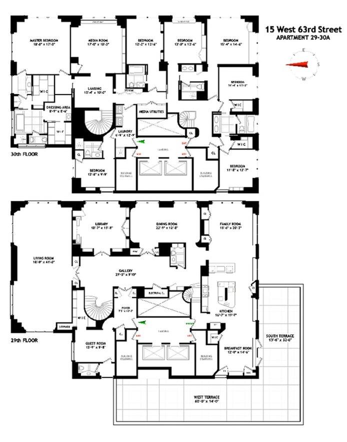 15 West 63rd Street 29/30Floor, Upper West Side, NYC, $25,000,000, Web #: 20004498