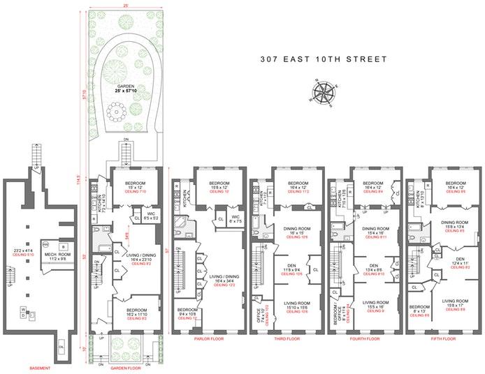 East 10th Street, East Village, NYC, $8,900,000, Web #: 20007617