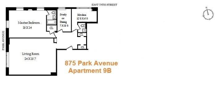 875 Park Avenue 9B, Upper East Side, NYC, $2,750,000, Web #: 20013358