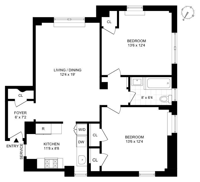 325 Riverside Drive 24, Upper West Side, NYC, $895,000, Web #: 20014679
