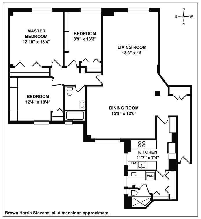 241 West 108th Street 8A, Upper West Side, NYC, $1,395,000, Web #: 20019859