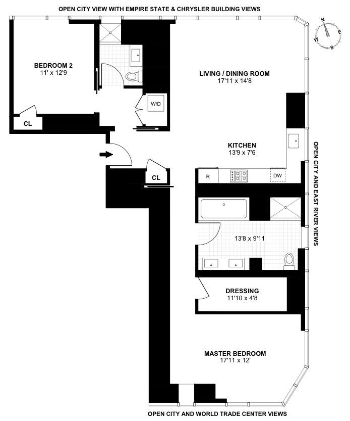 45 East 22nd Street 33B, Flatiron, NYC, $4,500,000, Web #: 20021676