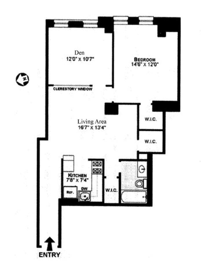 222 West 14th Street 6N, West Village, NYC, $4,700, Web #: 20022169
