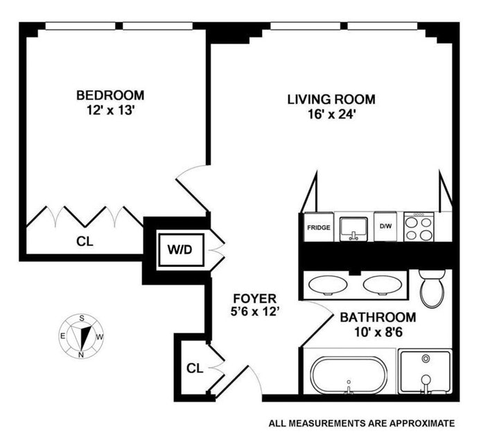 18 West 48th Street 15D, Midtown West, NYC, $3,950, Web #: 20023332