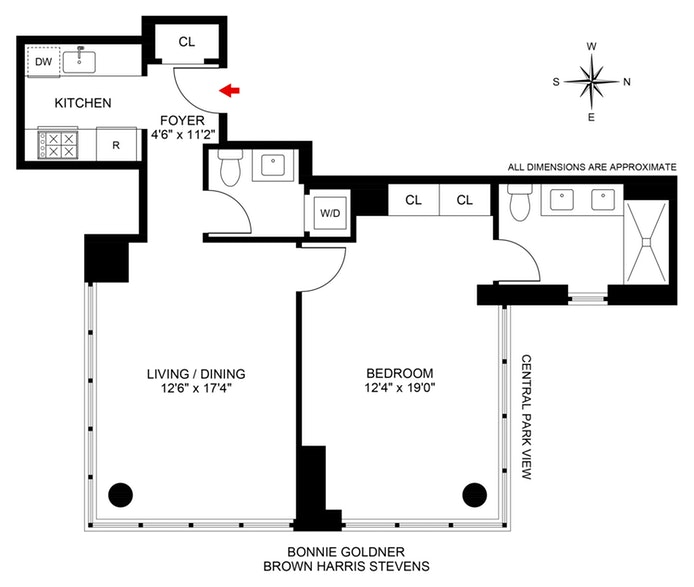 310 West 52nd Street 37A, Midtown West, NYC, $1,550,000, Web #: 20026657