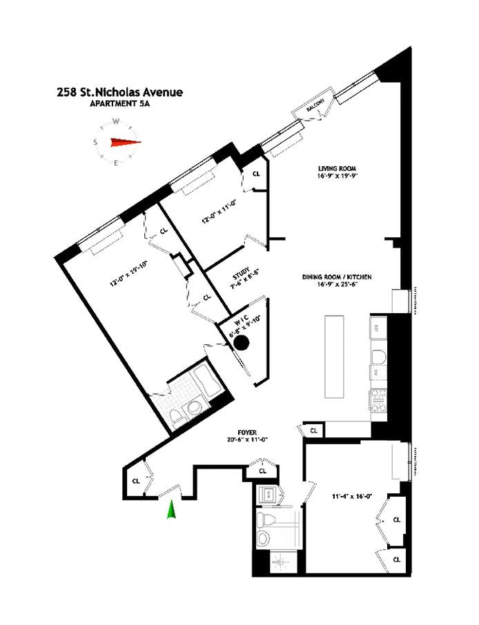 258 St Nicholas Avenue 5A, Central Harlem, NYC, $2,000,000, Web #: 20029136