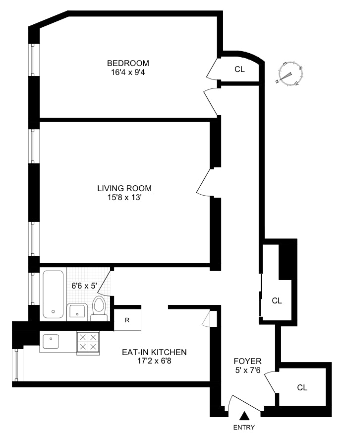 102 West 75th Street 42, Upper West Side, NYC, $527,000, Web #: 20030489