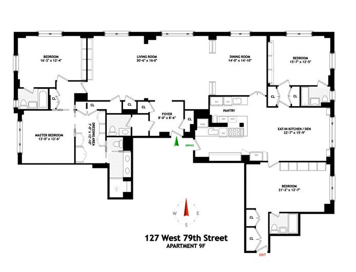 127 West 79th Street 9F, Upper West Side, NYC, $4,795,000, Web #: 20035189