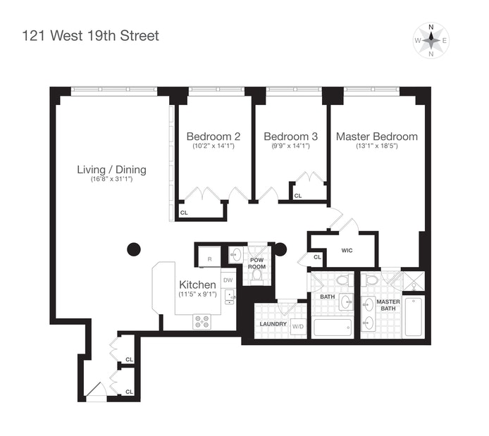 121 West 19th Street 5G, Chelsea, NYC, $13,995, Web #: 20038333