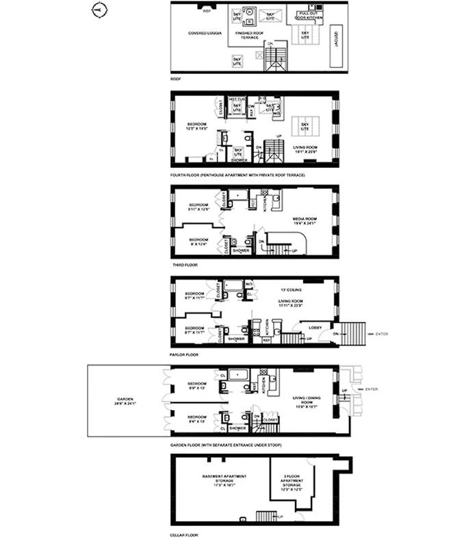 221 West 13th Street, West Village, NYC, $8,950,000, Web #: 20049020