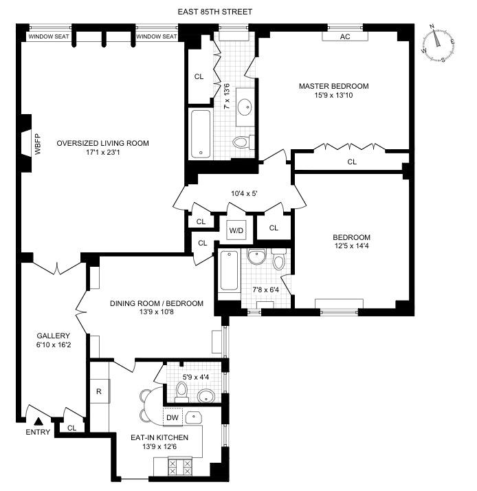 10 East 85th Street 7A, Upper East Side, NYC, $1,525,000, Web #: 20055113