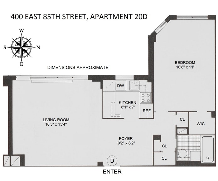 400 East 85th Street 20D, Upper East Side, NYC, $550,000, Web #: 20055941