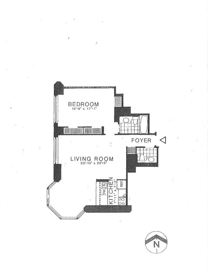 200 East 65th Street 21A, Upper East Side, NYC, $5,400, Web #: 20066706