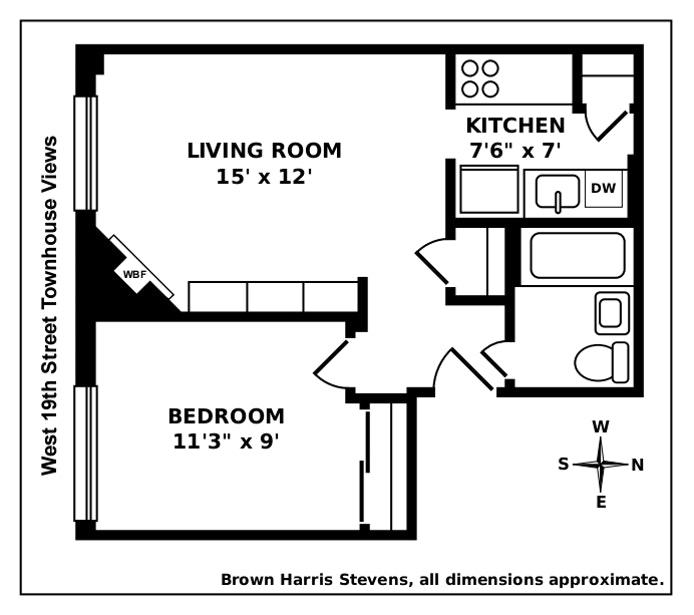 365 West 19th Street 2F, Greenwich Village/Chelsea, NYC, $699,000, Web #: 20067135
