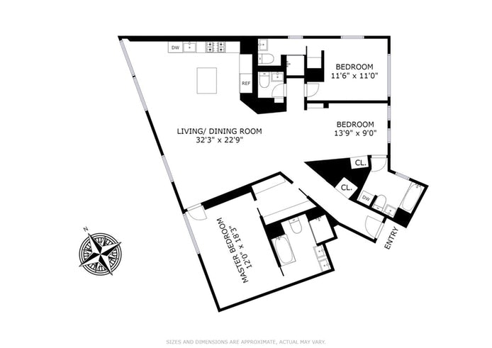 100 Eleventh Avenue 10A, Chelsea, NYC, $13,500, Web #: 20074054