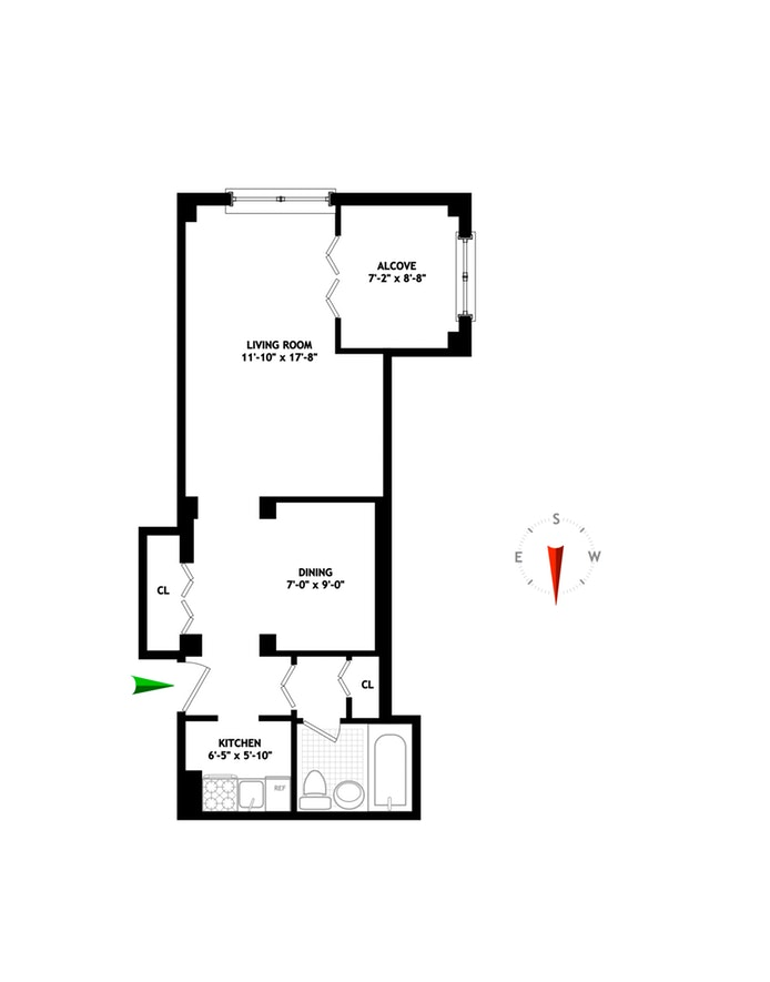 135 East 54th Street 3A, Midtown East, NYC, $595,000, Web #: 20074065