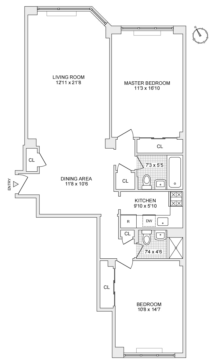 116 East 66th Street 2E, Upper East Side, NYC, $1,250,000, Web #: 20076151