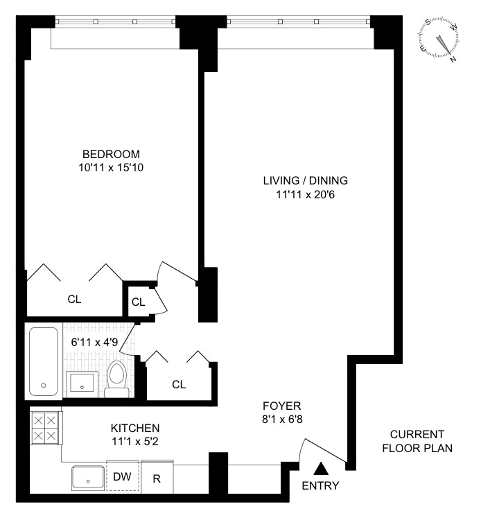 153 East 57th Street, Midtown East, NYC, $579,000, Web #: 20078589