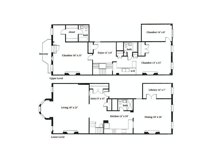 Elegant Duplex, Brooklyn Heights, New York, $3,395,000, Web #: 20107857