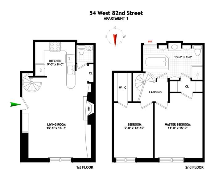 54 West 82nd Street 1, Upper West Side, NYC, $995,000, Web #: 20107988