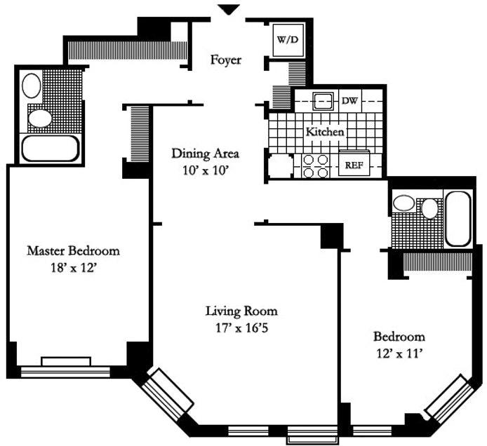 222 Riverside Drive 4C, Upper West Side, NYC, $5,500, Web #: 20121725