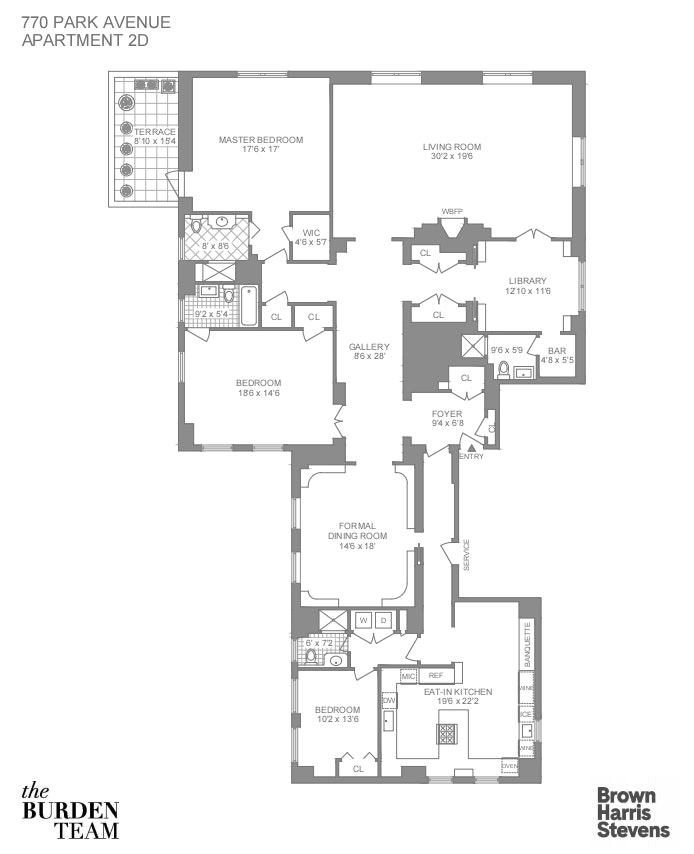 770 Park Avenue 2D, Upper East Side, NYC, $5,950,000, Web #: 20131267