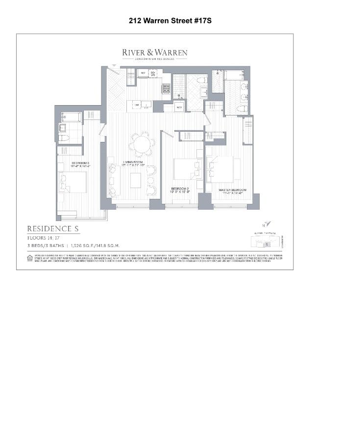 212 Warren Street 17S, Battery Park City, NYC, $9,950, Web #: 20137430