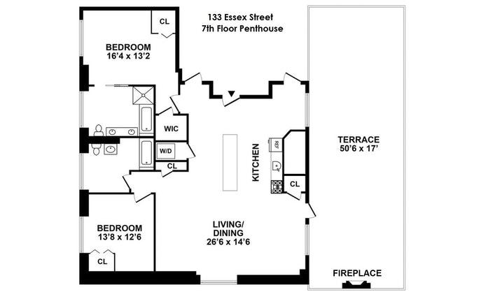133 Essex Street 701, Lower East Side, NYC, $7,517, Web #: 20149392