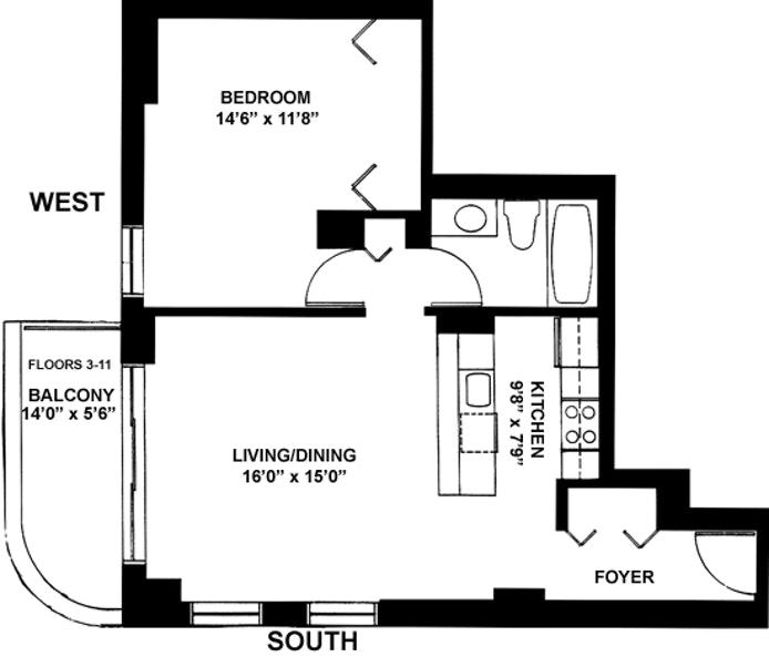 140 Charles Street 5E, West Village, NYC, $4,795, Web #: 20151940
