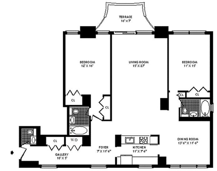 58 West 58th Street 32C, Midtown West, NYC, $8,500, Web #: 20156587