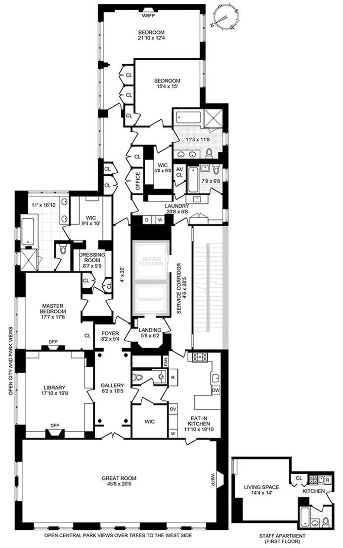 838 Fifth Avenue 10Fl, Upper East Side, NYC, $16,990,000, Web #: 20160374