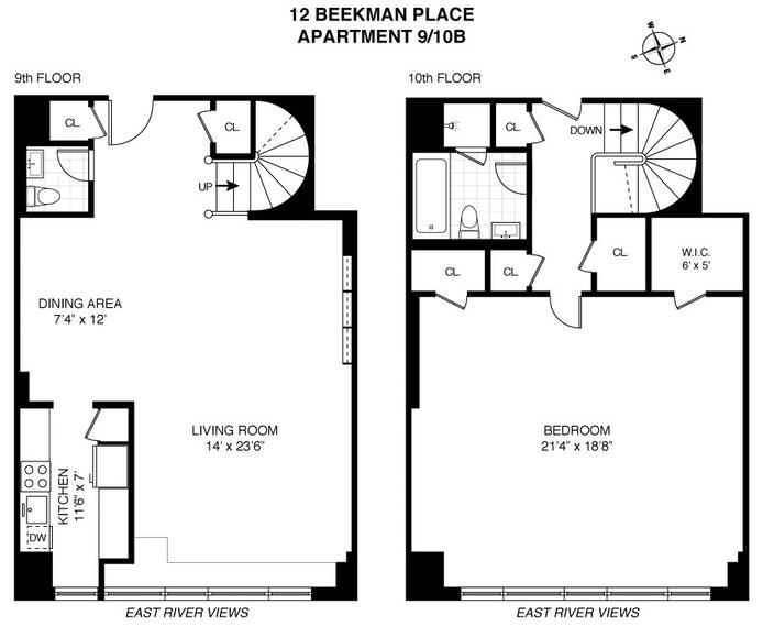 12 Beekman Place 9/10B, Midtown East, NYC, $895,000, Web #: 20163658