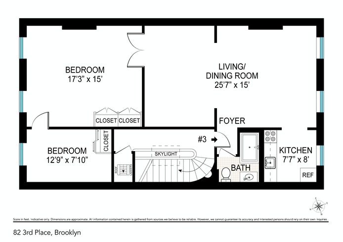 82 3rd Place 3, Brooklyn, New York, $3,700, Web #: 20163712